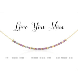 Morse Code Necklace - Love You Mom
