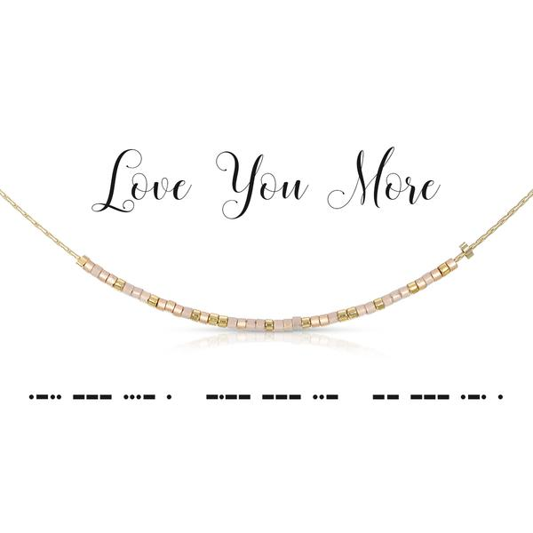 Morse Code Necklace - Love You More