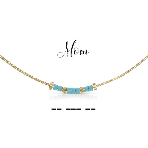 Morse Code Necklace - Mom