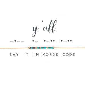 Morse Code Necklace - Y'all