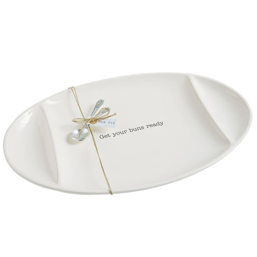 Get Your Buns Ready Serving Platter Set