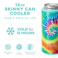 Load image into Gallery viewer, SWIG Swirled Peace Skinny Can Cooler