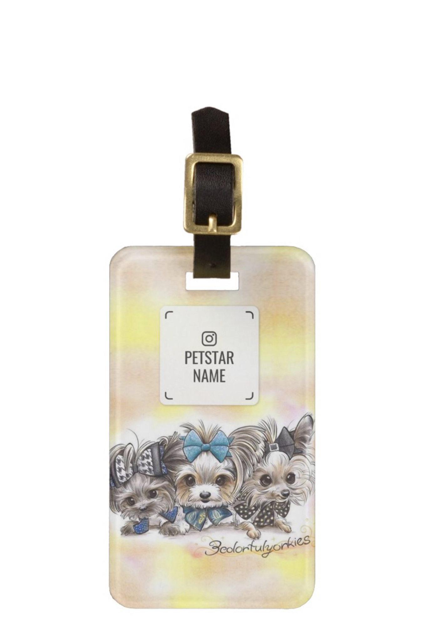 Mini Luggage Tag | Double-Sided