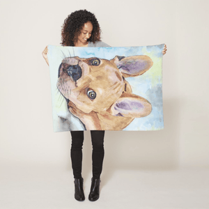 Pet Fleece Blanket — Medium