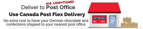 Use Canada Post Flex Delivery to safely ship German Chocolate, Marzipan and Gummy Candies during the warm summer months