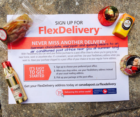 Canada Post Flex Delivery - German Chocolate, Marzipan and Gummy Candies all summer long