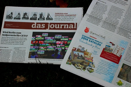 Gingerbread World advertising in Das Journal German Language Newspaper