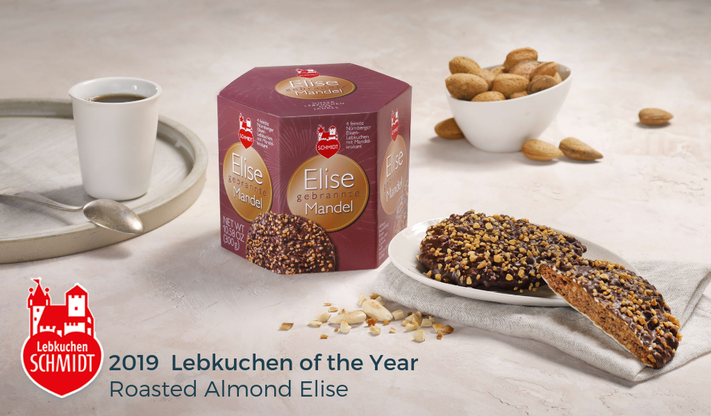 Gingerbread World Lebkuchen Schmidt Canada - 2019 Lebkuchen of the Year Roasted Almond Elise