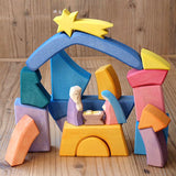 Gingerbread World Lebkuchen Schmidt Canada - Ostheimer Toys from Germany - Rainbow Block Set Nativity