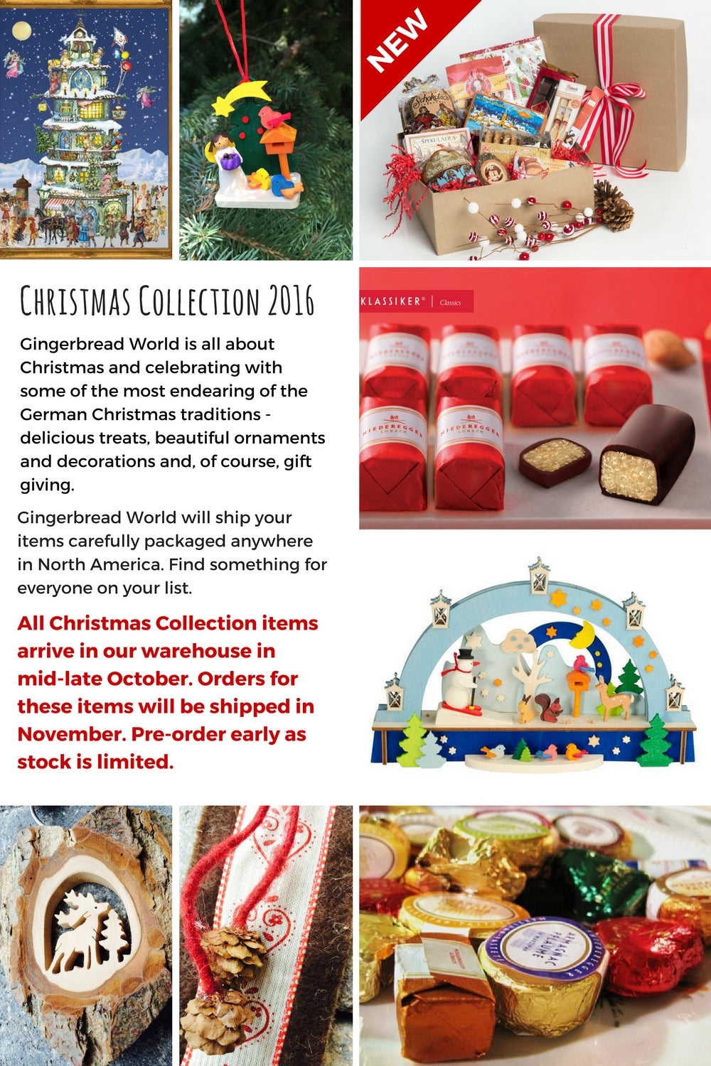 Gingerbread World Christmas Collection 2016
