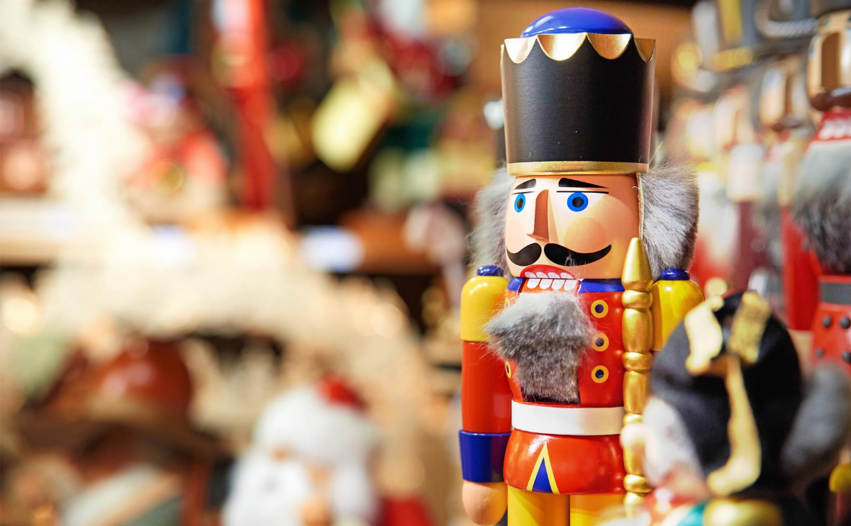 Nutcrackers at German Christmas Market - Purchased from Shutterstock