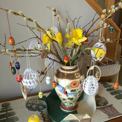 Gingerbread World Easter Egg Tree - Traditional German Ostereierbaum - Gingerbread World Blog