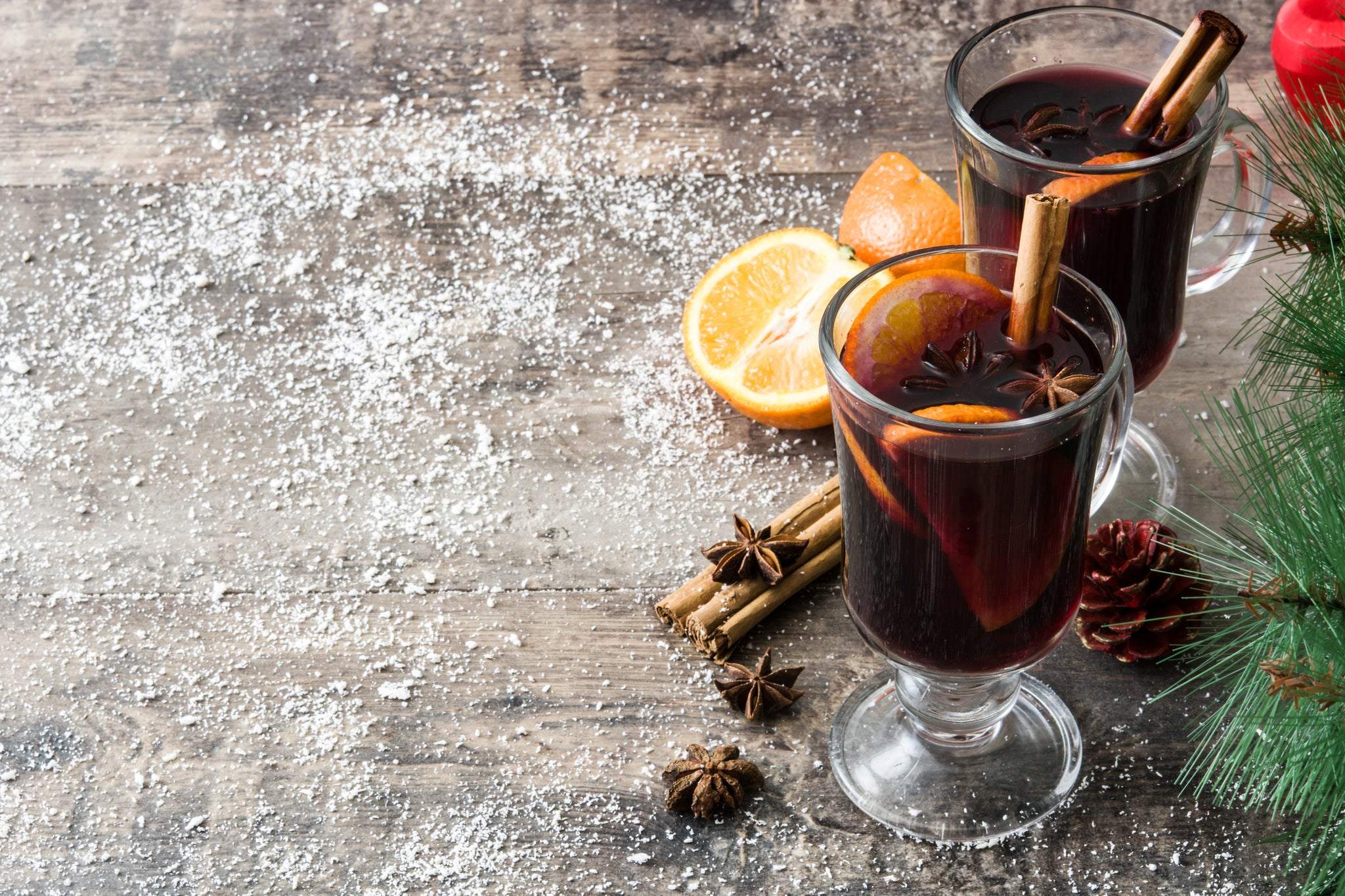 Glühwein or Gluehwein or Mulled Wine - A Hot Spiced Drink for Christmas