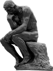 Gingerbread World Blog - Giving Corporate Gifts at Christmas - Is it really necessary? Image of The Thinker