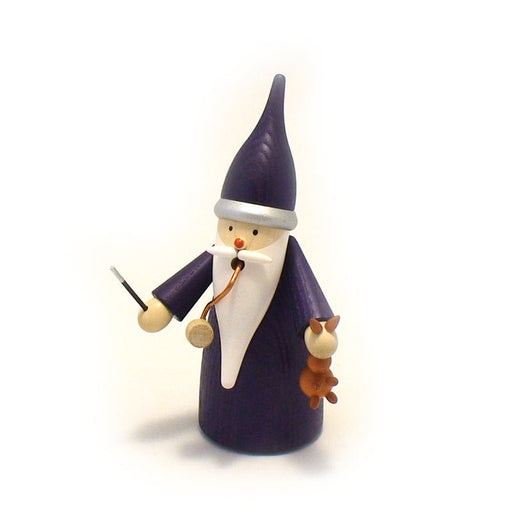 Seiffener Volkskunst Traditional Incense Smoker - Wizard Gnome