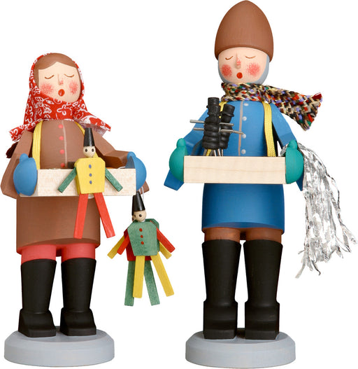 Seiffener Volkskunst Authentic German Wooden Folk Art - Original Striezelkinder Figures