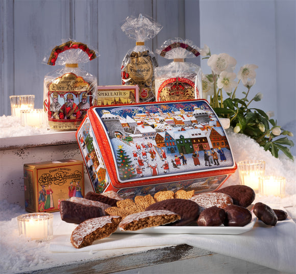 Gingerbread World Lebkuchen Schmidt Canada - Picturesque Nuremberg Chest Item #50527