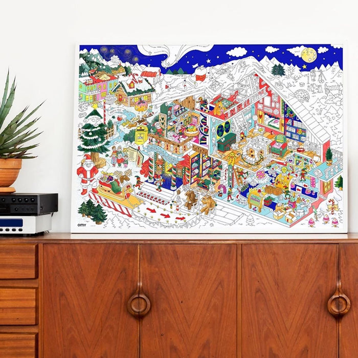 European Ware Haus OMY Activity Advent Calendar - Scratch Off Poster