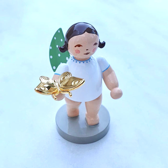 Wendt & Kühn Gold Edition Grünhainichen Angel - Dreamer Angel with Butterfly, No. 13