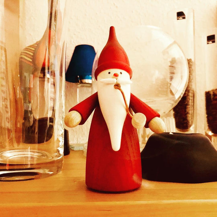Seiffener Volkskunst Traditional Christmas Incense Smoker - Red Gnome
