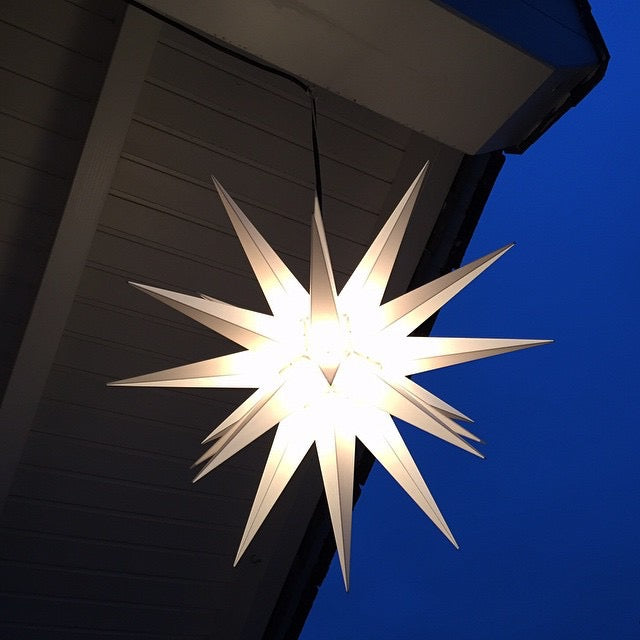 Gingerbread World Herrnhuter Moravian Star, Plastic Indoor/Outdoor 40 cm White