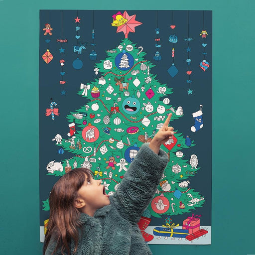 European Ware Haus OMY Activity Advent Calendar - Giant Sticker Poster