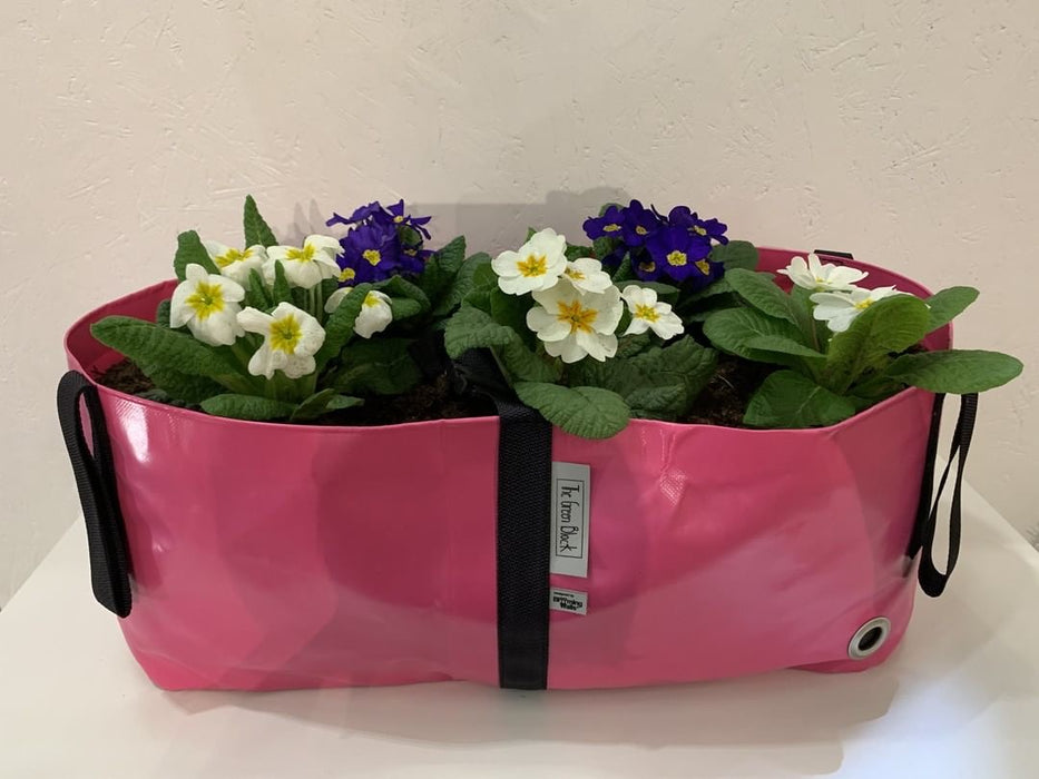 Blooming Walls Canada The Green Block Plant Bag - Medium - Pink filled with florals