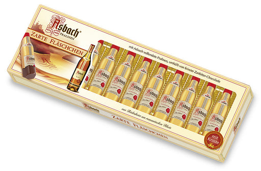 Asbach Uralt brandy bottles. Dark chocolate bottles w/ premium brandy