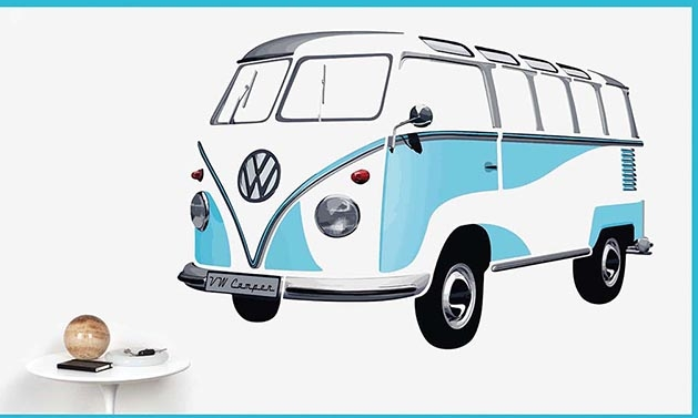 Classic Volkswagen Giant Wall Decal - Put a VW Bug or Bus on your Wall