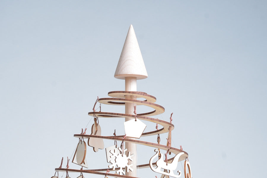 Gingerbread World European Christmas - Spira Wooden Christmas Tree - Cone Topper