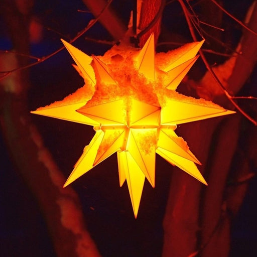 European Ware Haus by Gingerbread World Herrnhuter Stars Canada 40 cm Plastic Star Yellow