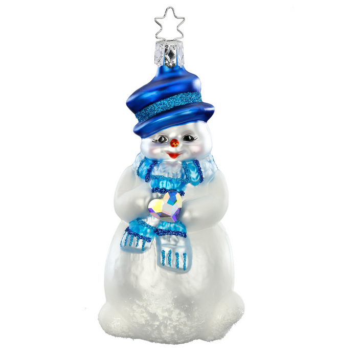 European Ware Haus Gingerbread World Glass Christmas Ornament – Inge-Glas 2020 Ornament of the year Beloved Friend Snowman
