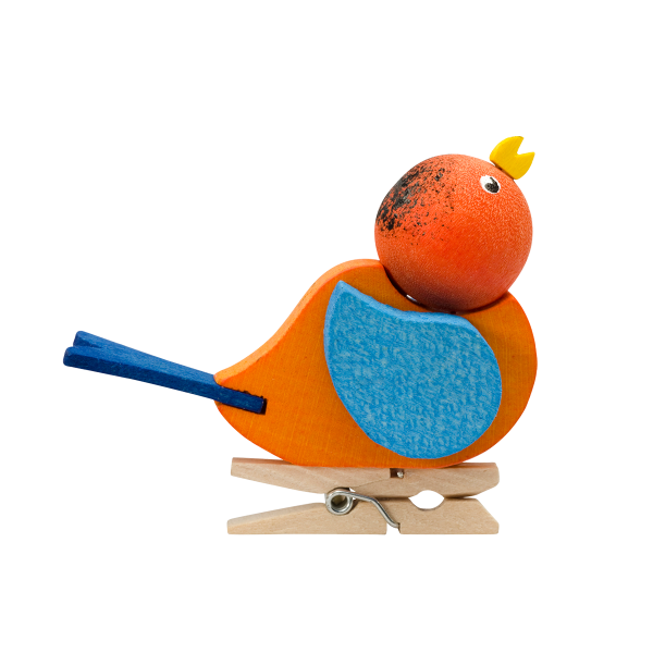 European Ware Haus Graupner Holzminiaturen Clip-On Bird Ornament 32003. Available in Canada