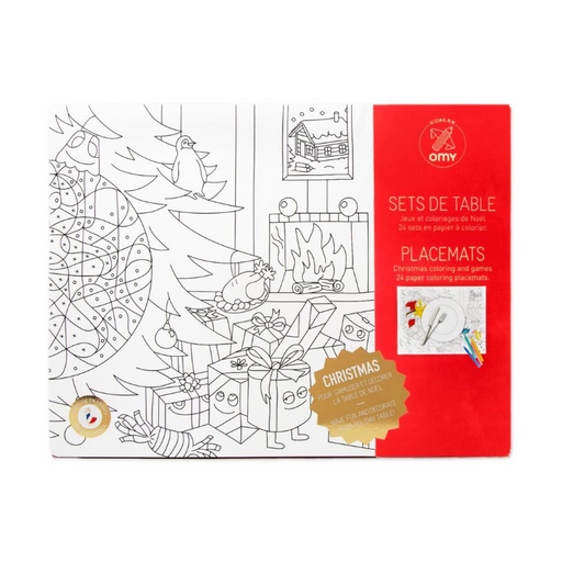 European Ware Haus OMY Activity Christmas Place Mats - in package