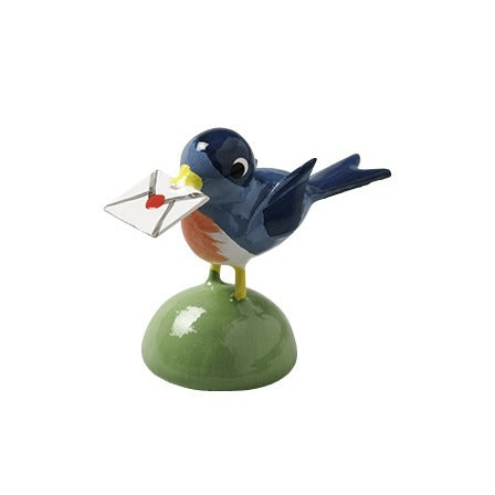 European Ware Haus Wendt und Kuehn Canada - Bird Carrying Letter Blue 5263-N-B