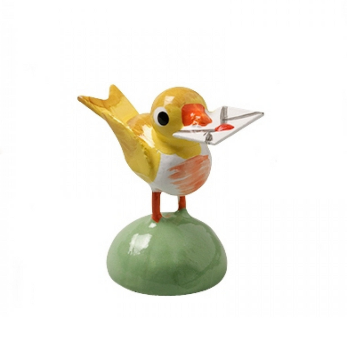 European Ware Haus Wendt und Kuehn Canada - Bird Carrying Letter Blue 5263-N