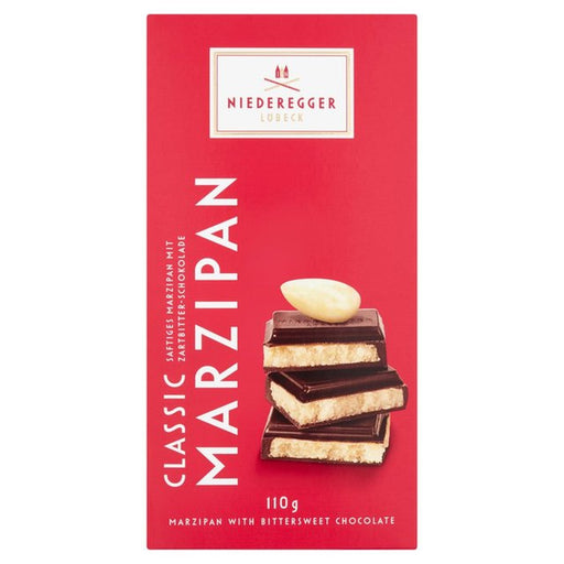 Gingerbread World Niederegger Dark Chocolate Marzipan, 110 gram Bar