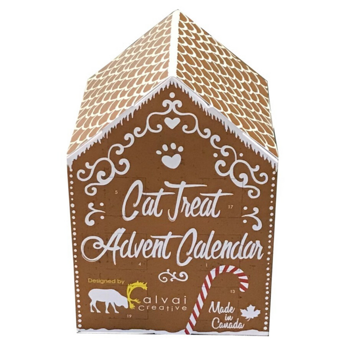 Gingerbread World Cat Treat Advent Calendar