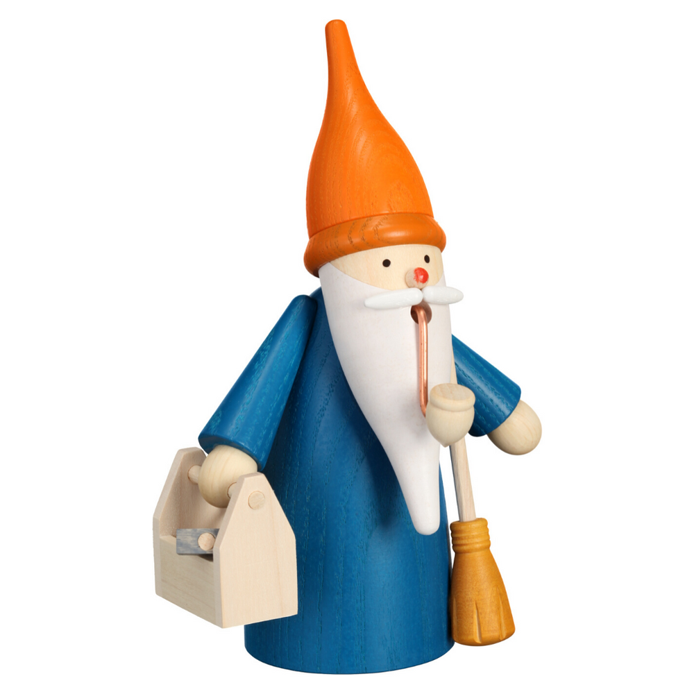 Gingerbread World Erzgebirge Canada – Seiffener Volkskunst - Smoker Figure - Home Gnome Santa with Swivel 12324