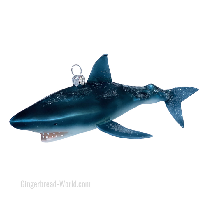Gingerbread World European Ware Haus - Hanco Glass Ornament Shark H275601