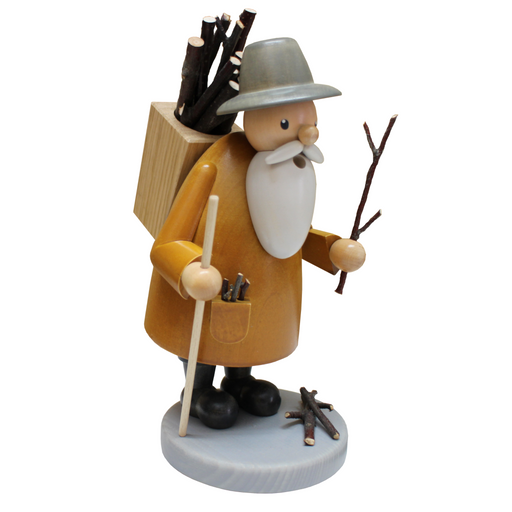 Gingerbread World Gahlenz Holzkunst Smoker Figure - Wood Gatherer G16532