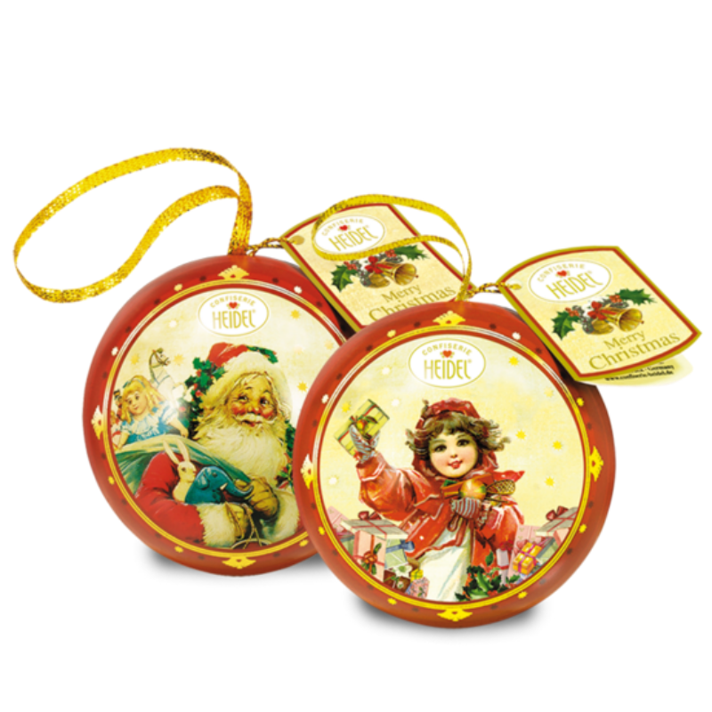 Gingerbread World German Christmas Chocolate Confiserie Heidel Christmas Nostalgia Tin Ornament