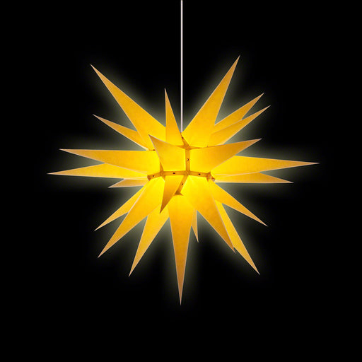 Gingerbread World Herrnhuter Moravian Star, 40 cm Paper Indoor - Yellow