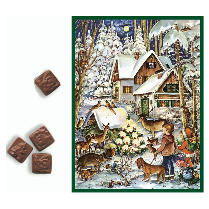 Gingerbread World Richard Sellmer Advent Calendar RS709 - Christmas in the Woods