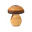 Gingerbread World Waldfabrik Turned Wood Mushroom Ornaments 5303