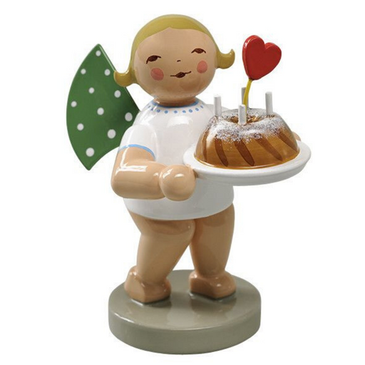 Gingerbread World Wendt and Kuehn Canada - Angel with Cake and Heart WK650-154