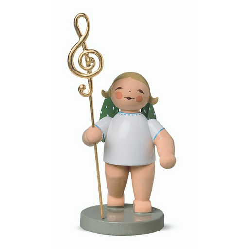 Gingerbread World Wendt and Kuehn Canada - Gold Edition No 2 Musikus Angel with Gold Plated Clef WK650-115-L