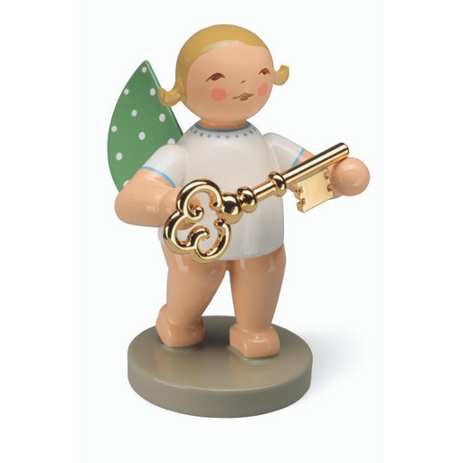 Gingerbread World Wendt and Kuehn Canada - Gold Edition No 8 Treasurer Angel with Gold Plated Key WK650-121