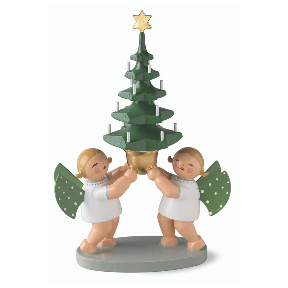 Gingerbread World Wendt and Kuehn Canada - Pair of Angels with Tree WK651-7k