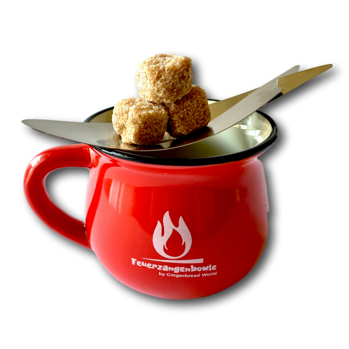 Gingerbread World - Feuerzangenbowle Sugar Cubes or Lumps on Tray